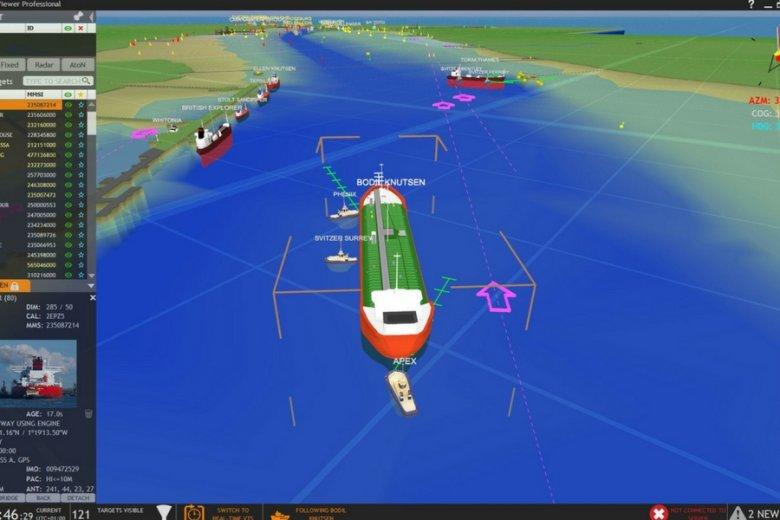 Widok panelu systemu nawigacji GeoVS Ltd.