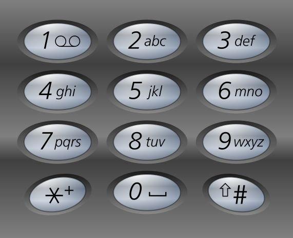 Standardowa klawiatura telefonu (zgodna z ITU E 1.161)