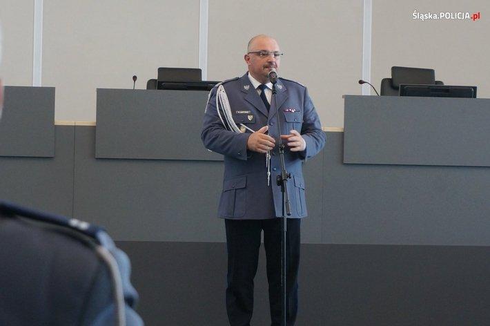Generał Krzysztof Justyński, komendant śląskiej policji.