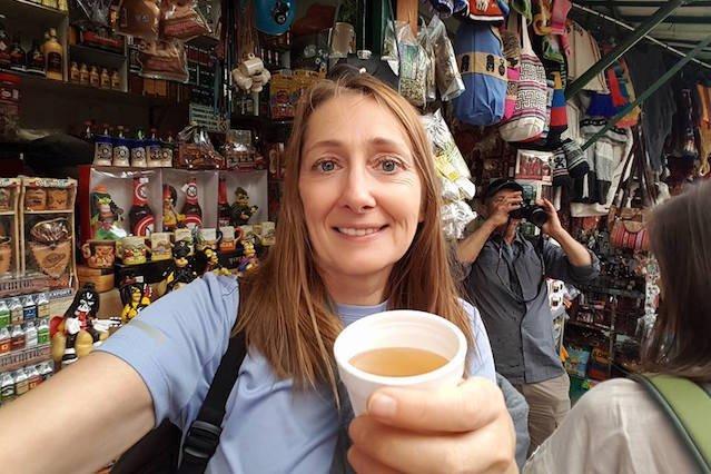 Beata Pawlikowska w trakcie jednej ze swoich podróży.