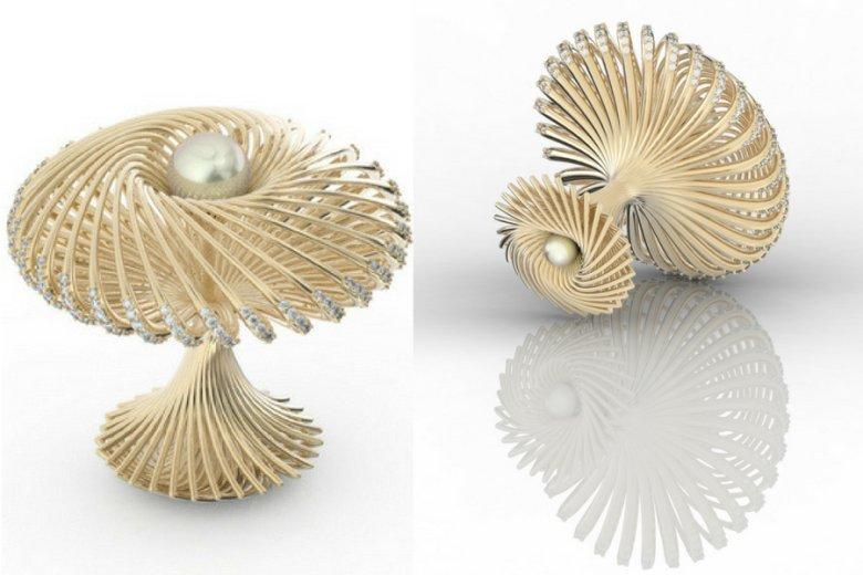 """""""Pierścionek, który nie przypomina pierścionka"""", jeden z projektów tworzonych w trójwymiarze."""