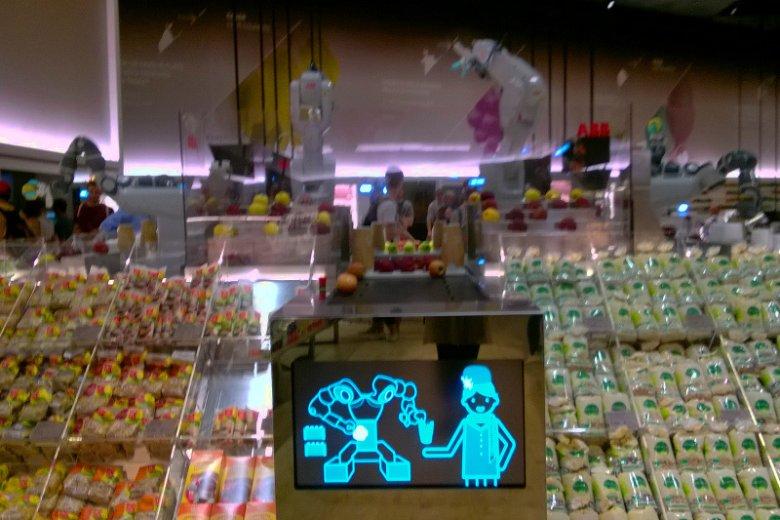 Roboty i ekrany instruujące klientów, to standardowe wyposażenie marketu jutra