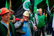 Protesty górnicze w Warszawie 01.10.2014