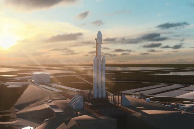 Falcon Heavy to właściwie trzy połączone rakiety Falcon 9.