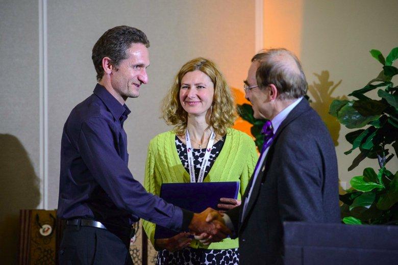 Grażyna Szczepaniak, Jarosław Bogulak, współzałożyciele Booke; Profesor Piotr Moncarz współzałożyciel i przewodniczący USPTC