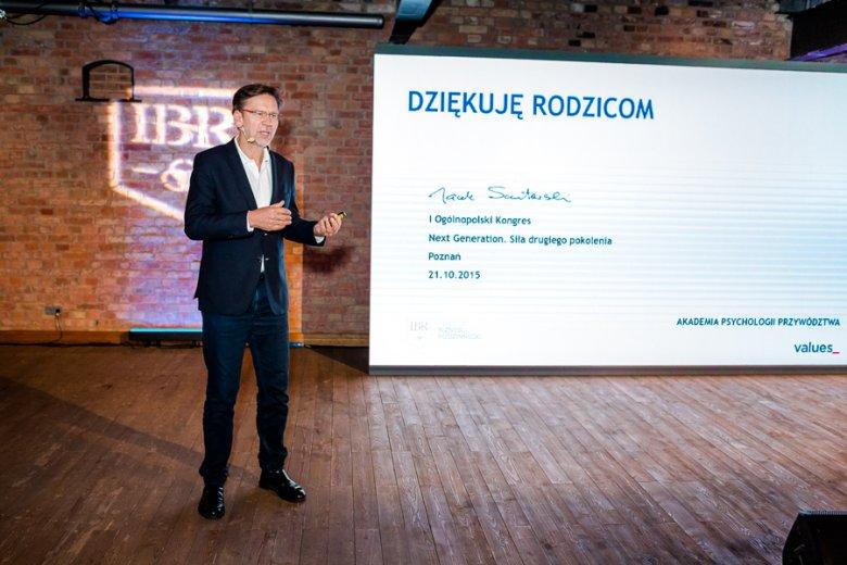 Jacek Santorski podczas prelekcji na kongresie Next Generation. www.nextg.pl