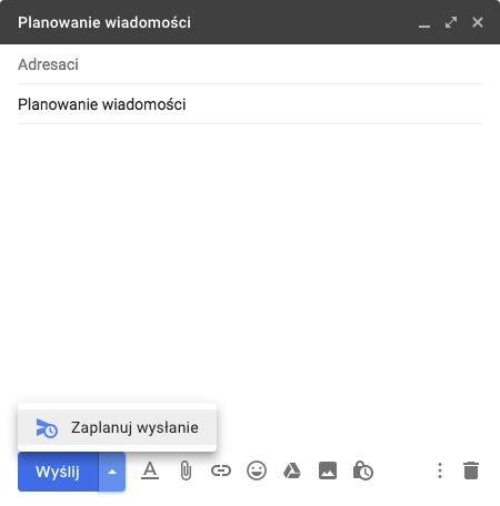 Od niedawna w Gmailu istnieje opcja zaplanowania wiadomości. Teraz możemy ustalić, o której e-mail zostanie wysłany do odbiorcy.
