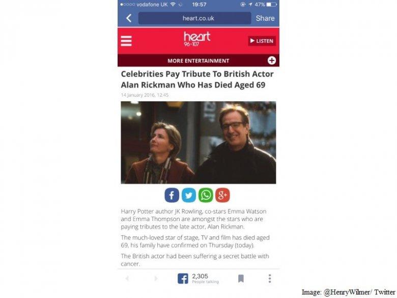 Zamieszczony w sieci przez dziennikarza BBC zrzut ekranowy testowej wersji przeglądarki WWW Facebooka