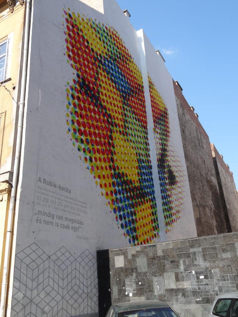 Mural z Kostką Rubika, fot. Alicja Wianecka