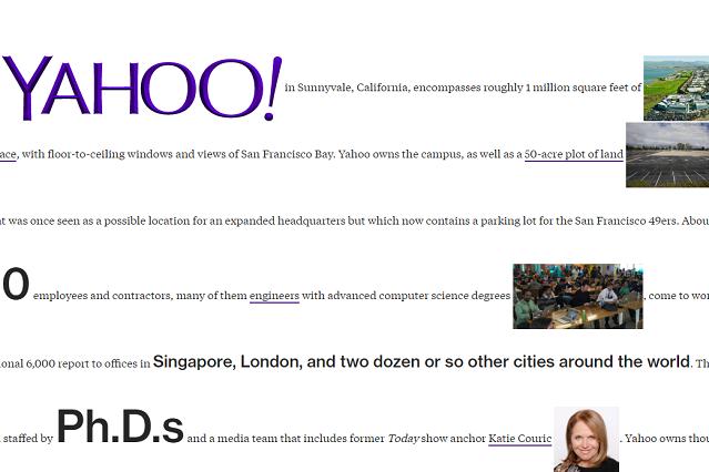 Proszę nie regulować odbiorników – tak obecnie wygląda strona Yahoo na portalu Bloomebrg Businessweek