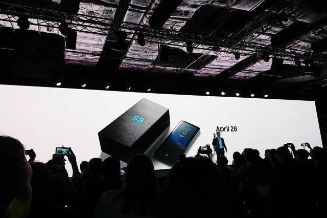 Konferencja Samsunga w Londynie, na której właśnie pokazano telefony Galaxy S8 i Galaxy S8+