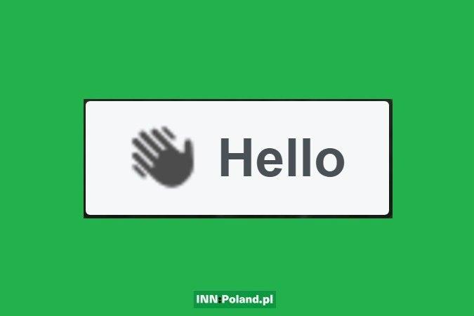 """Tak wygląda przycisk """"Hello"""""""