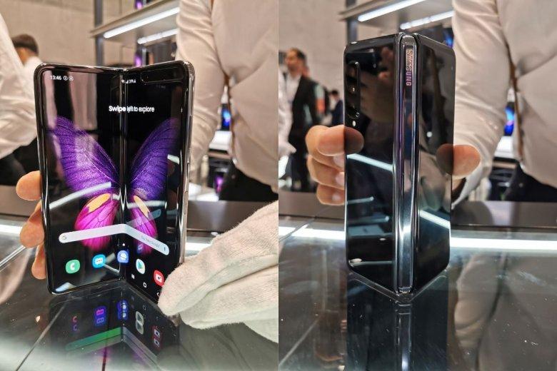 Składany Galaxy Fold, pierwszy składany smartfon Samsunga. W wersji, która trafi do sklepów, ma się już nie łamać.
