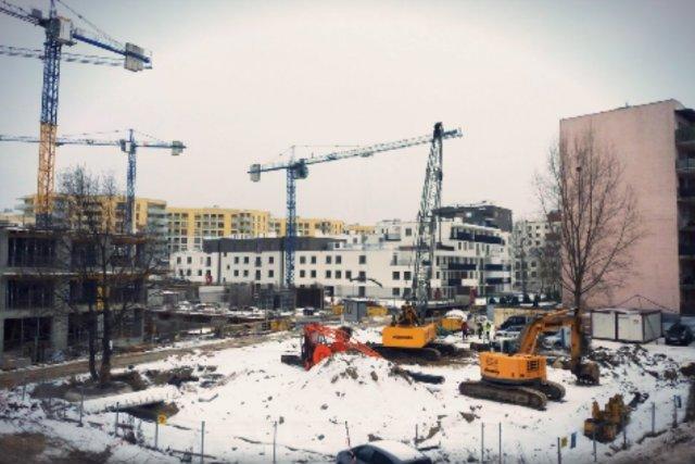 Firma NC Investment jest w trakcie budowy sześciopiętrowego bloku przy ul. Pełczyńskiego na warszawskim Bemowie