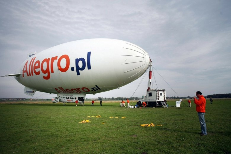 Akcja promocyjna Allegro w Krakowie.
