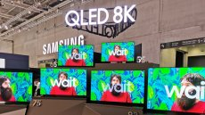 Linia telewizorów Samsung QLED 8K, promowana na targach IFA w Berlinie.