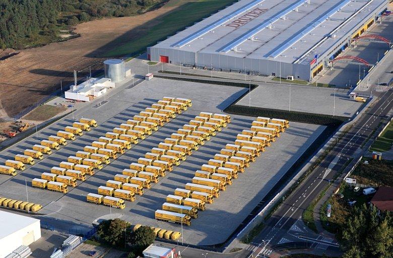 Flota transportowa, jaką szczyci się czołowy eksporter okien z Polski