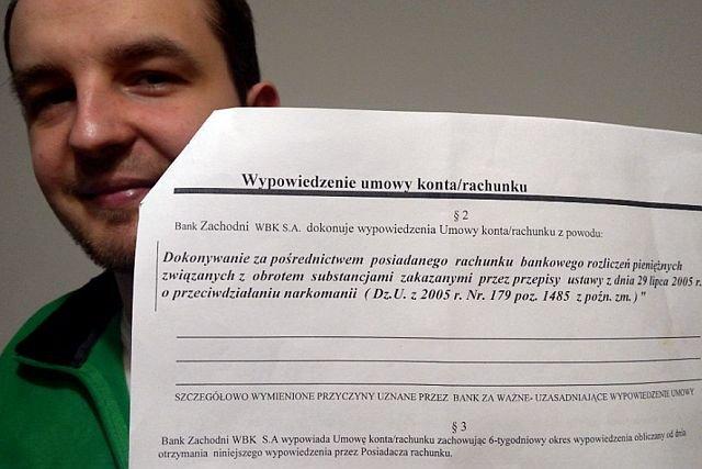 """BZ WBK zamyka konto restauracji z legalnymi produktami z konopi w menu. """"Rozliczanie obrotu substancjami zakazanymi przez ustawę o przeciwdziałaniu narkomanii"""""""