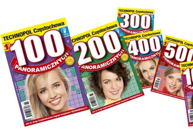 """Prawdziwy sukces przyniosły Technopolowi krzyżówki z serii """"Panoramicznych"""". Różnią się liczbą krzyżówek w środku – od 100 do potężnej liczby 2000."""