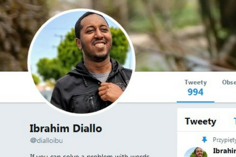 Ibrahim Diallo opisał swoją historię na blogu.
