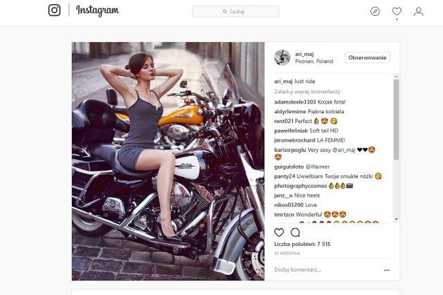 Ariadna Majewska lubi chwalić się na Instagramie przede wszystkim swoimi zgrabnymi nogami
