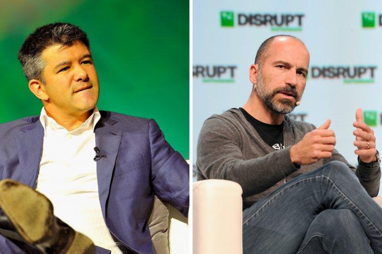 Dan Khorowshahi (po prawej), obecny CEO, nie życzył sobie obecności podczas IPO na nowojorskiej giełdzie poprzedniego prezesa i współtwórcę Ubera, Travisa Kalanicka. Tradycyjnym dzwonkiem, otwierającym sesję giełdową, zadzwonił sam Dan