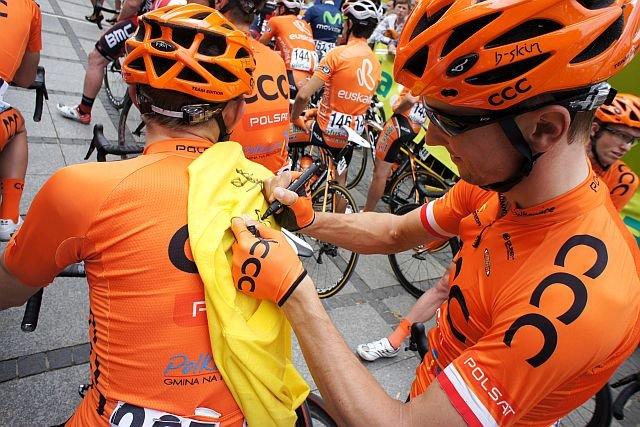 CCC od dawna sponsoruje polskich kolarzy. Na zdjęciu drużyna teamu CCC Polkowice