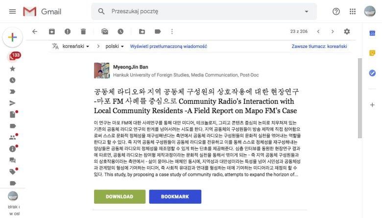 Google tłumacz pomoże zrozumieć nawet koreański.
