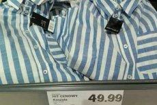 Koszule w budzący skojarzenia z obozowym pasiakiem wzorek pojawiły się w ofercie Lidla na początku tego tygodnia.