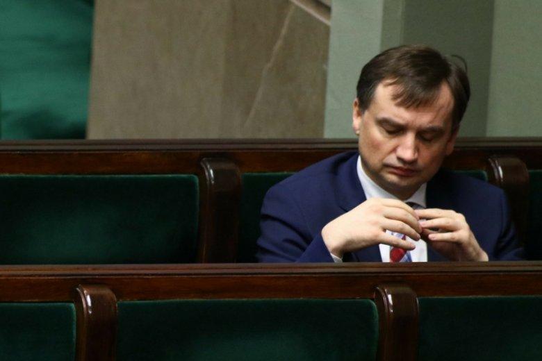 Minister sprawiedliwości Zbigniew Ziobro, na razie wielki przegrany batalii o reformę sądownictwa.