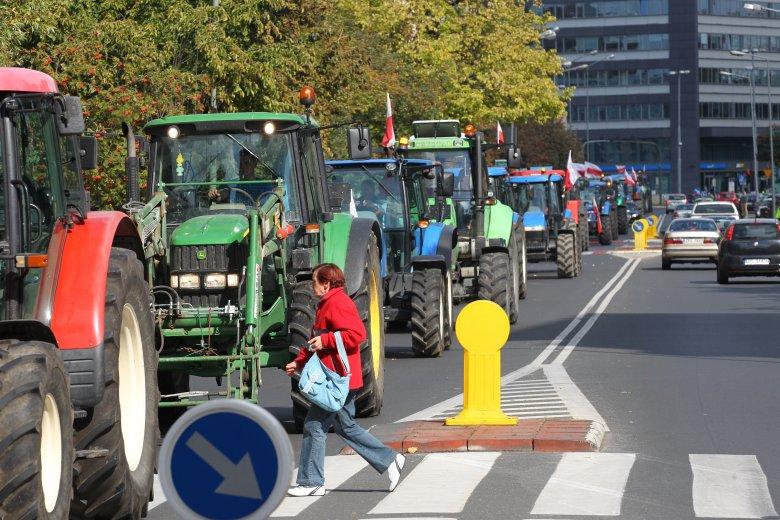 Polscy rolnicy planują manifest przed Kancelarią Prezesa Rady Ministrów W Warszawie