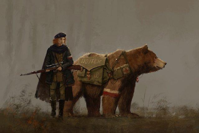 Niedźwiedź Wojtek w świecie 1920+.