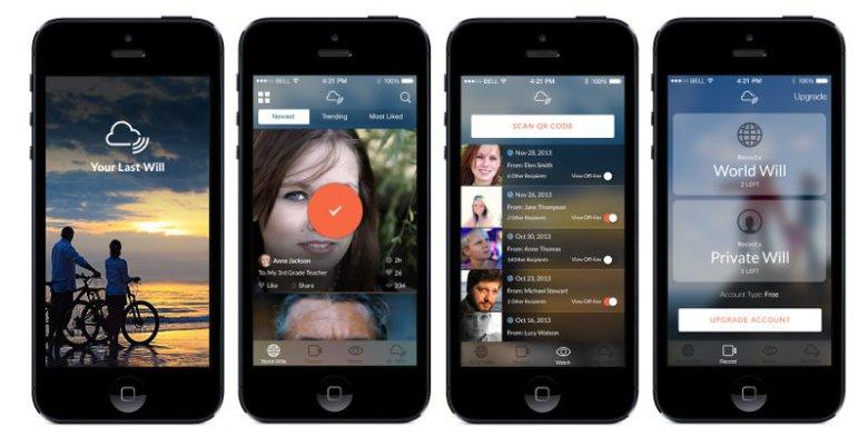 Aplikacja Your Last Will udostępnia również publiczne nagrania innych.