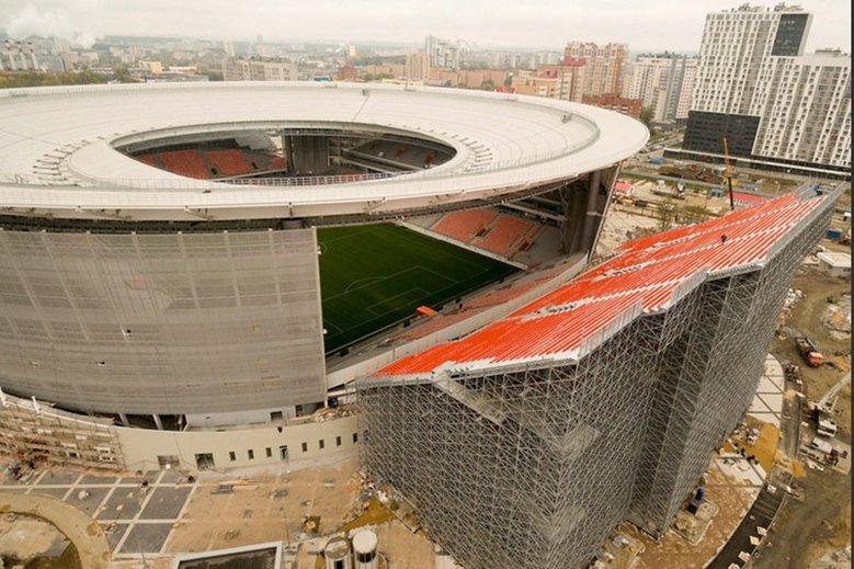 Stadion-prowizorka w Jekaterynburgu