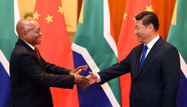 Spotkanie prezydenta RPA, Jacoba Zumy z Xi Jinpingiem w grudniu 2015 roku