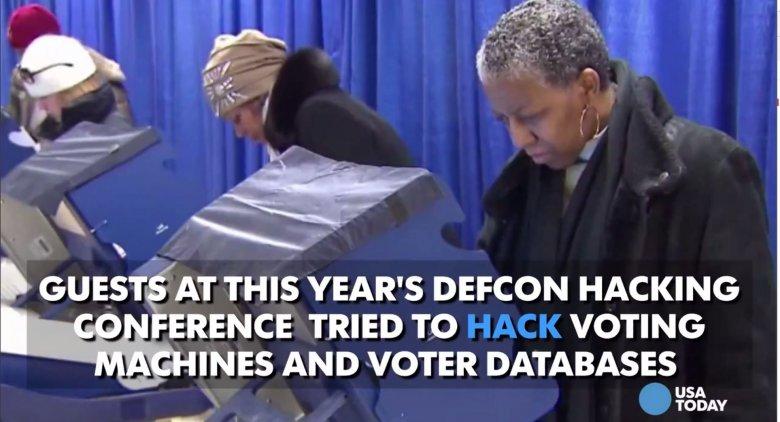 Uczestnicy tegorocznej konwencji Def Con w Las Vegas próbowali włamać się do komputerów wyborczych i baz danych wyborców.