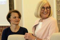 Mały ZUS. Minister przedsiębiorczości Jadwiga Emilewicz (z lewej) uważa, że wprowadzenie tzw. małego ZUS może pomóc 200 tysiącom mikroprzedsiębiorców.