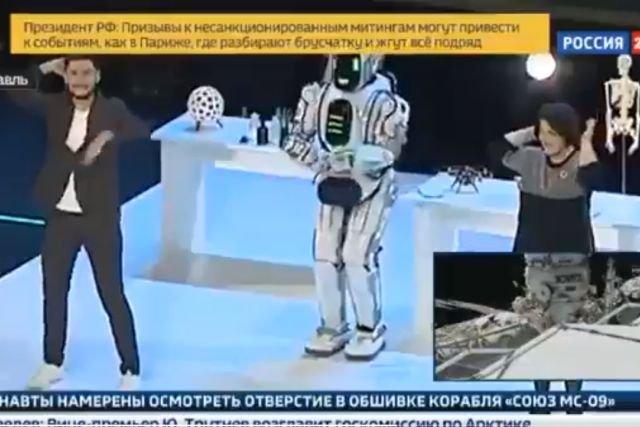 Rosyjska telewizja pokazała najlepszego na świecie robota. Okazał się człowiekiem w stroju robota