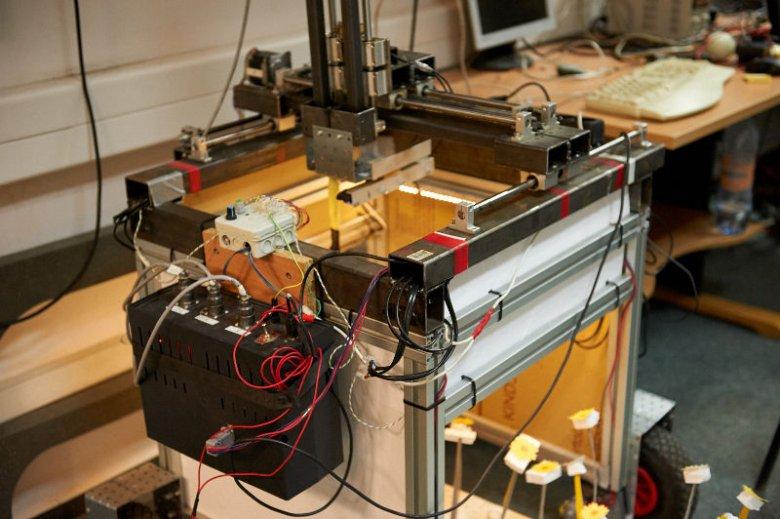 """To flagowy produkt projektu """"autonomiczny układ do mechanicznego zapylania roślin""""."""
