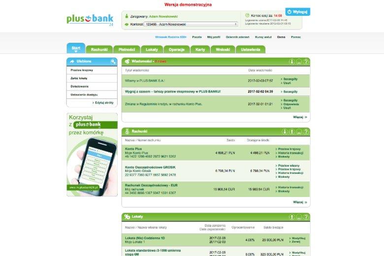 Aplikacja mobilna plusbank24 daje dostęp do rachunków, kart, kredytów, lokat dla Klientów Plus Banku przy użyciu urządzeń przenośnych w rodzaju smartfonu czy tabletu