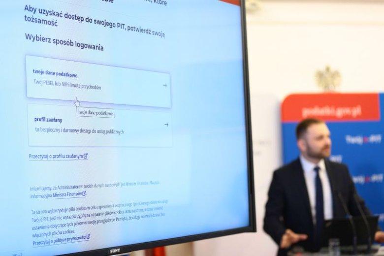 Konferencja w sprawie ogłoszenia e-PIT w Ministerstwie Finansów
