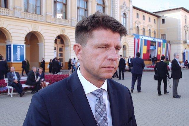 Ryszard Petru, lider partii .Nowoczesna.
