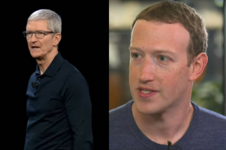 Tim Cook (Apple) i Mark Zuckerberg (Facebook).