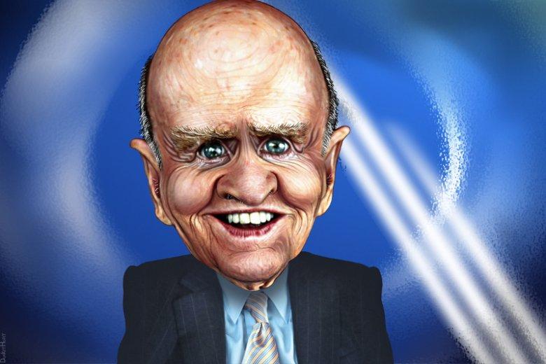 Karykatura Jacka Welcha.