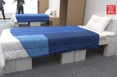 Olimpijscy sportowcy będą spali na łóżkach wykonanych z kartonu.