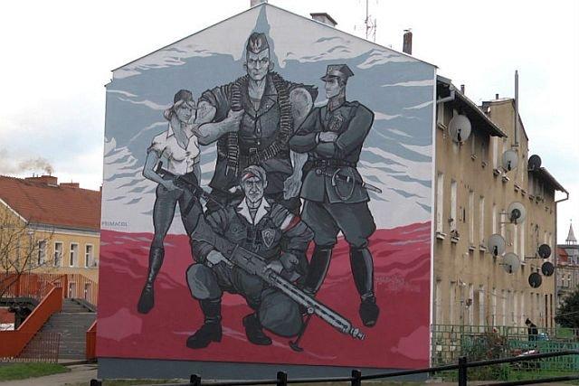 W Gdańsku-Oruni powstał mural poświęcony żołnierzom wykletym. Jest efektem konkursu ogłoszonego przez Gdański Zarząd Nieruchomości Komunalnych.