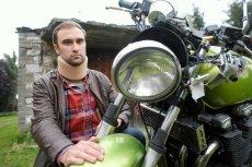 Piotr Litewka, motocyklista z Katowic, który poszukiwał świadków swojego wypadku.