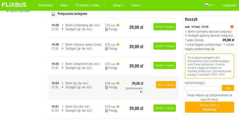 Ceny biletów kolejowych oferowanych przez FlixTrain zaczynają się od 39 złotych.