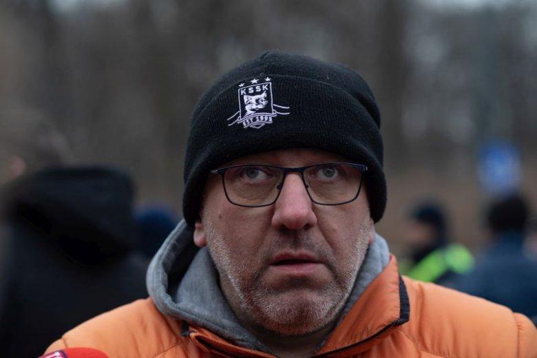 Wiceprzewodniczący związku zawodowego taksówkarzy Artur Wnorowski przeciwko Uberowi protestował również w styczniu