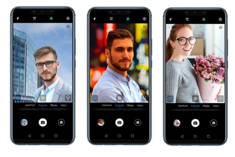 Efekt bokeh stał się modny wśród twórców selfie. Do zdjęcia dodamy go za pomocą aparatu 20 MP + 2 MP w modelu Huawei Mate 20 lite